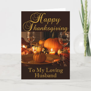 For Husband Thanksgiving Cards Zazzle