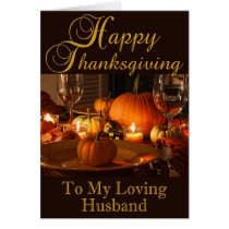 Thanksgiving Card for Husband