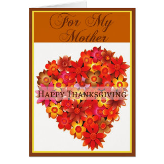 Thanksgiving Card for Mother