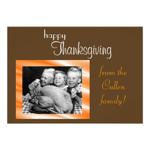 Thanksgiving Card Personalized Invitation