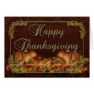 Thanksgiving Card With Pumpkins at Zazzle
