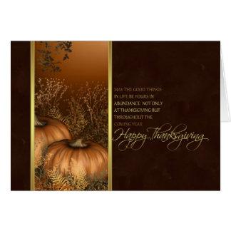 thanksgiving card with pumpkins moder design