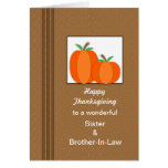 Thanksgiving Card with Two Pumpkins