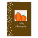 Thanksgiving Card with Two Pumpkins-Swirls