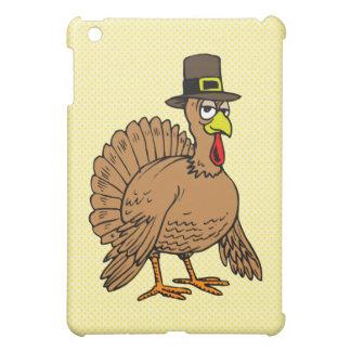 Thanksgiving Cartoon Turkey Pilgrim iPad Mini Cover