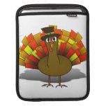 Thanksgiving Cartoon Turkey Pilgrim Sleeve For iPads
