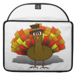 Thanksgiving Cartoon Turkey Pilgrim Sleeves For MacBooks