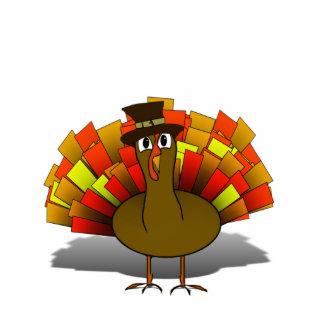 Thanksgiving Cartoon Turkey Pilgrim Cut Out