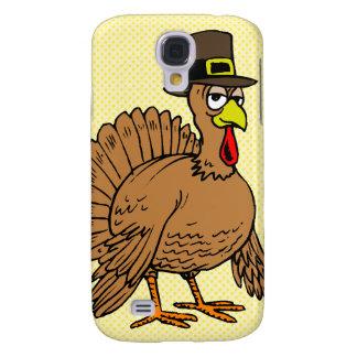 Thanksgiving Cartoon Turkey Pilgrim Samsung Galaxy S4 Cases