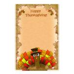 Thanksgiving Cartoon Turkey Pilgrim Stationery