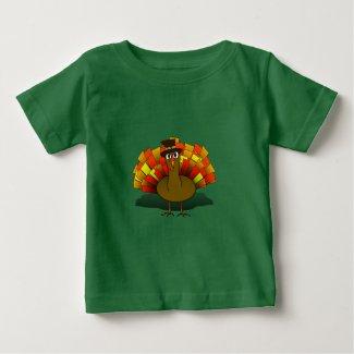 Thanksgiving Cartoon Turkey Pilgrim T-Shirt