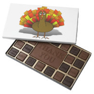 Thanksgiving Cartoon  Worried Turkey 45 Piece Box Of Chocolates