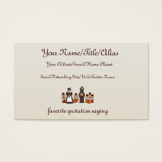 Thanksgiving Cats Business Card