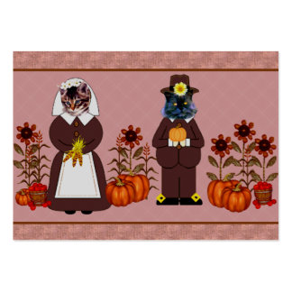 Thanksgiving Cats Business Card Templates
