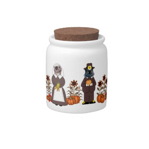 Thanksgiving Cats Candy Dishes