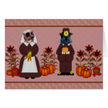 Thanksgiving Cats Greeting Card