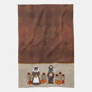 Thanksgiving Cats Kitchen Towel
