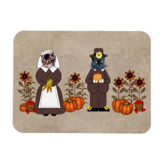 Thanksgiving Cats Magnet
