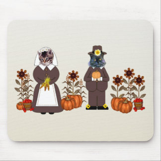Thanksgiving Cats Mouse Pad