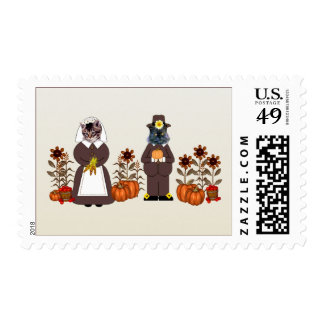 Thanksgiving Cats Postage