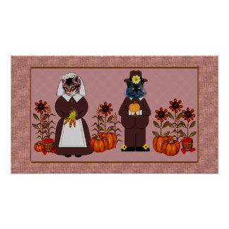 Thanksgiving Cats Poster