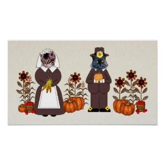 Thanksgiving Cats Posters