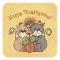 Thanksgiving Cats sticker