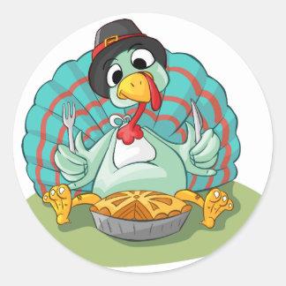 Thanksgiving celebration classic round sticker