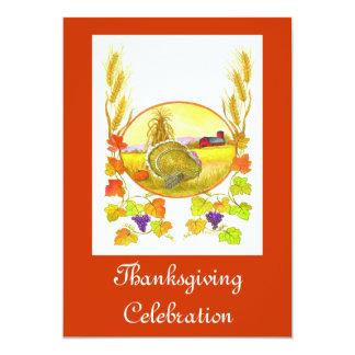 Thanksgiving Celebration Custom Invitations