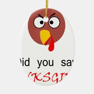Thanksgiving! Ceramic Ornament