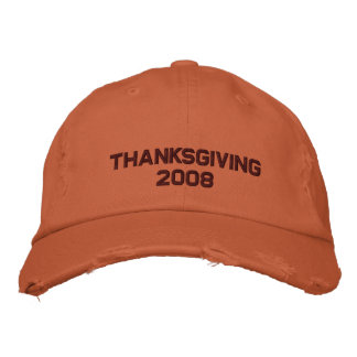 Thanksgiving Change to Current Year Embroidered Baseball Hat