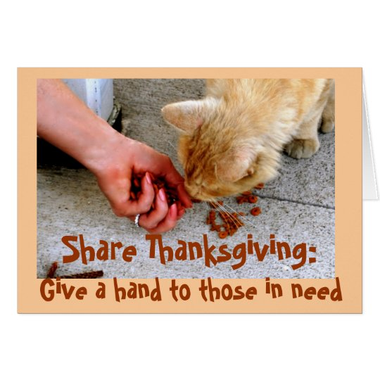 Thanksgiving Charity with Animals Card