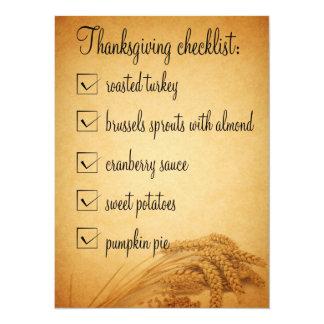Thanksgiving Checklist - Invitation
