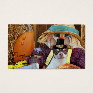 Thanksgiving Chihuahua dog Business Card