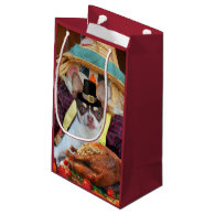 Thanksgiving Chihuahua dog Small Gift Bag