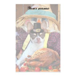 Thanksgiving Chihuahua dog Stationery