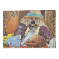 Thanksgiving chihuahua dog tyvek® card case wallet