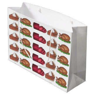 Thanksgiving Christmas Dinner Turkey Pie Gift Bag
