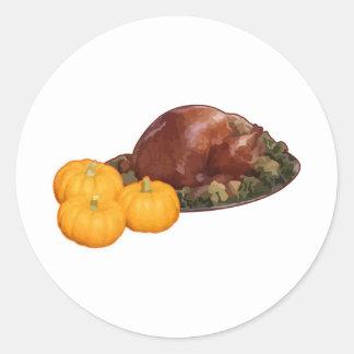 Thanksgiving Classic Round Sticker