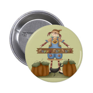Thanksgiving Colorful Fall Round Button