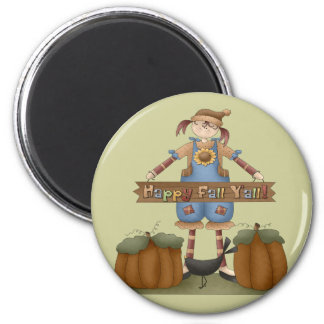 Thanksgiving Colorful Fall Round Magnet