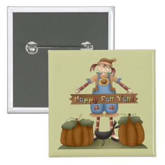 Thanksgiving Colorful Fall Square Button