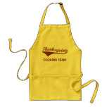 Thanksgiving Cooking Team Adult Apron