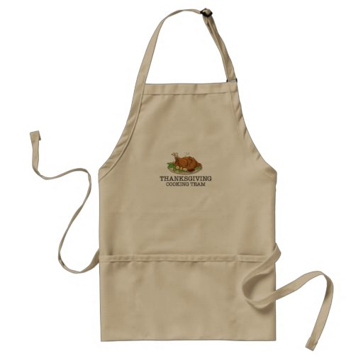 Zazzle Thanksgiving Cooking Team Fried Turkey Adult Apron