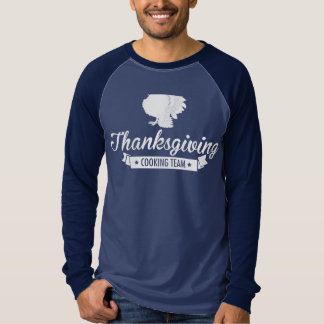 Thanksgiving Cooking Team White T Shirt