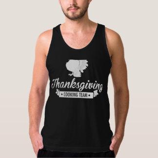 Thanksgiving Cooking Team White Tank