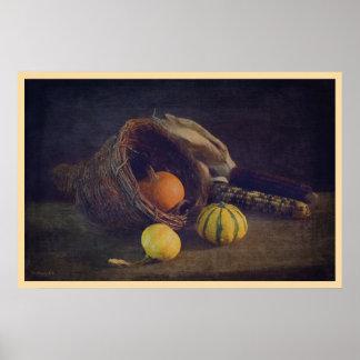 """Thanksgiving Cornucopia 36x24"""" Poster"""