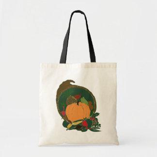 Thanksgiving Cornucopia Canvas Bags