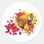 Thanksgiving Cornucopia Classic Round Sticker