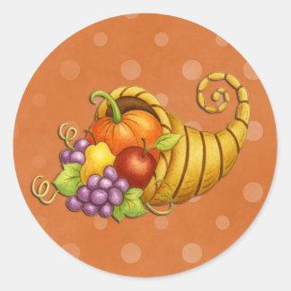 Thanksgiving Cornucopia Fall Stickers